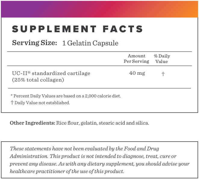 UC-II Supplement-FACTS
